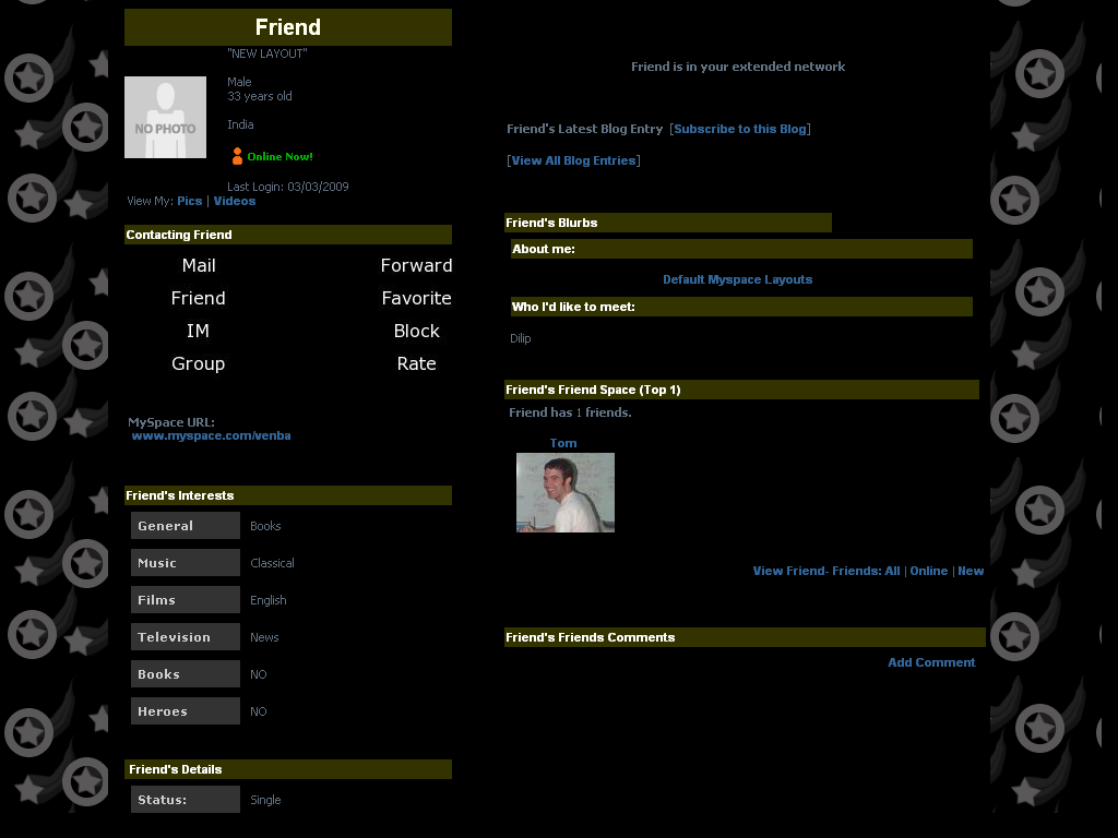 Black Layouts For Myspace 100