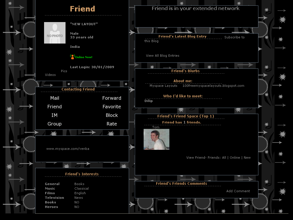 Black Layouts For Myspace 27