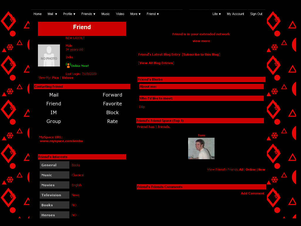 Plain Red And Black Myspace Layouts 52