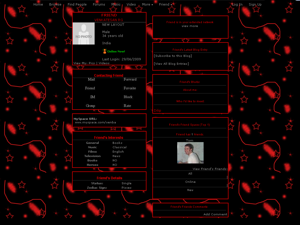 Black Layouts For Myspace 23